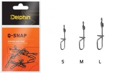 Pergető kapcsolat Delphin Q-SNAP / 10db /Méret: L 0,8mm