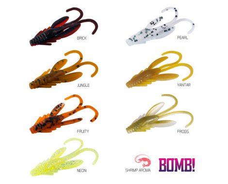 BOMB! Gumihal Nympha 2,5cm/PEARL / 10db