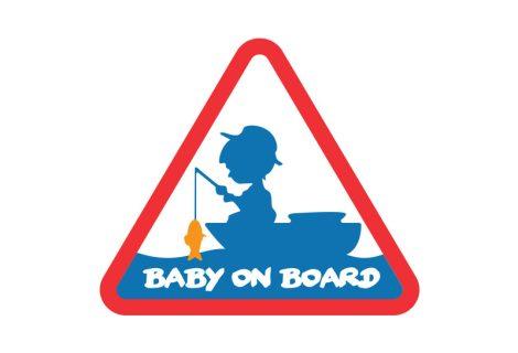 Öntapadó BABY on BOARD
