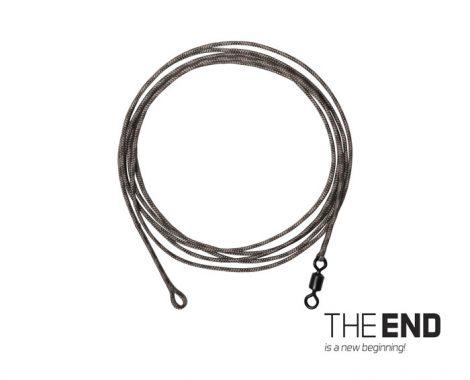 THE END Leadcore + swivel kötött horog / 3db