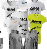 MAROS MIX V Nyakú női póló /fehér